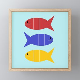 Tres Fishes Framed Mini Art Print