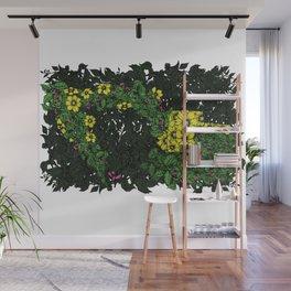 Flowers Excavator Wall Mural