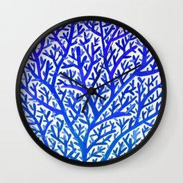 Fan Coral – Blue Ombré Wall Clock