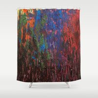 woodland Shower Curtains featuring Woodland by Stephanie Cole CREATIONS