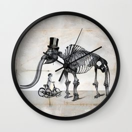 Mister Mastodon And Molly June Wall Clock
