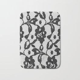 Black Lace Bath Mat