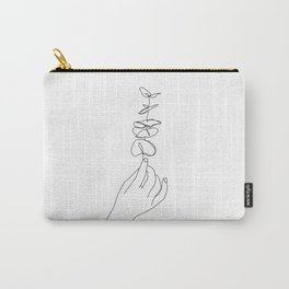 Hand holding plant - Kez Carry-All Pouch