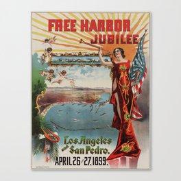 Vintage poster - Free Harbor Jubilee Canvas Print