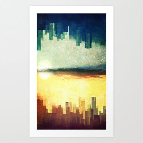 Parallel cities Art Print