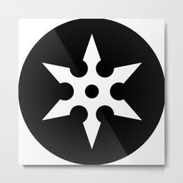 Ninja Shuriken Ideology Metal Print