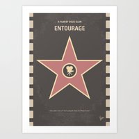 entourage Art Prints featuring No525 My Entourage minimal movie poster by Chungkong