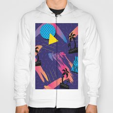 Retro Tropical Geometric Pattern Hoody
