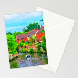 Boating on The River Wensum, Norwich, U.K Stationery Cards