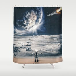 My house which is the earth by GEN Z Shower Curtain