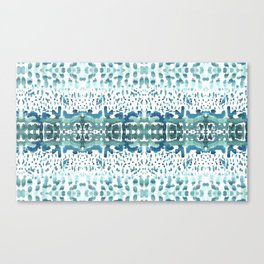 watrcolor wave Canvas Print
