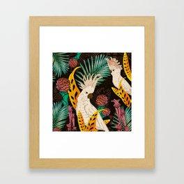 Tropical Cockatoos Framed Art Print