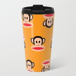 Julius Monkey Pattern by Paul Frank - Orange Travel Mug