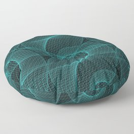 The Great Spiraling Unknown Floor Pillow