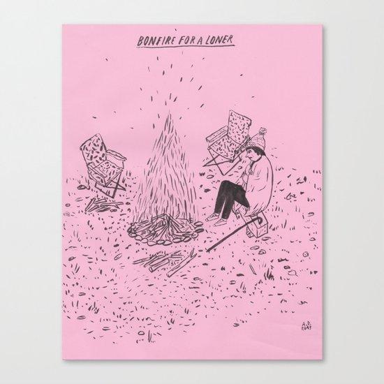 Bonfire for a Loner Canvas Print