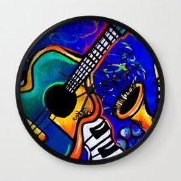 Carnival Jazz Painting Wall Clock