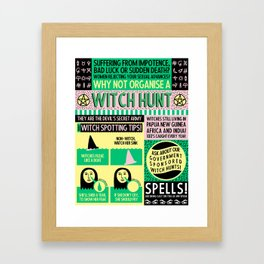 Witches Alive Today Framed Art Print