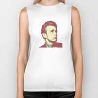 james franco Biker Tanks featuring James by victorygarlic