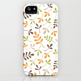 Assorted Leaf Silhouettes Ptn Retro Colors iPhone Case