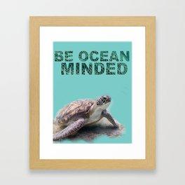 Be Ocean Minded Framed Art Print