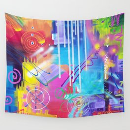 Vivid Thoughts 2 Wall Tapestry