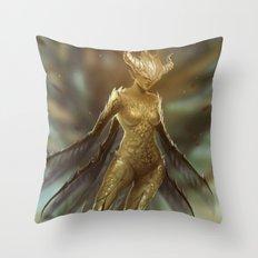 Golden Fairy Throw Pillow