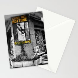 Italian Vintage Shop Black and White Photography Stationery Cards