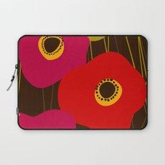 Red Poppy Flowers by Friztin Laptop Sleeve