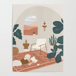 the living room rug Poster