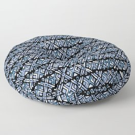 Sonoran Stripe - Indigo Floor Pillow