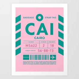 Baggage Tag D - CAI Cairo Egypt Art Print