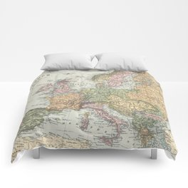 Vintage Map of Europe (1892) Comforters