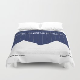 No158 My SCARFACE minimal movie poster Duvet Cover