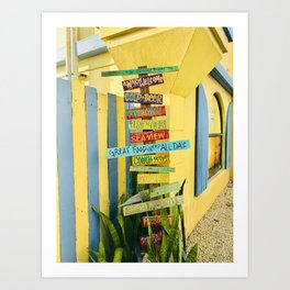"""Caribbean Tiki Sign"" Photography Art Print"