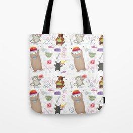 Bunny Dog Bear Cat Jello Treats Tote Bag