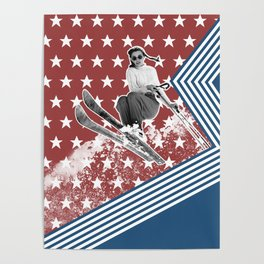 Ski like a Girl for USA Poster