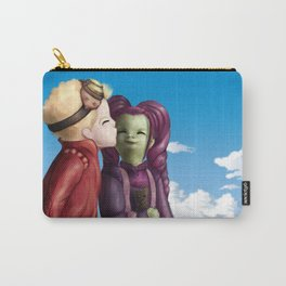 Young Gamora and Peter Kiss Carry-All Pouch