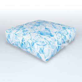 White blue abstract Outdoor Floor Cushion