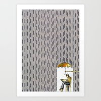 DVD BOX Umbrella Art Print