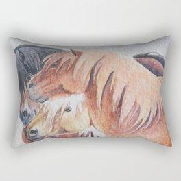 Three Musketeers Shetland Ponies Rectangular Pillow