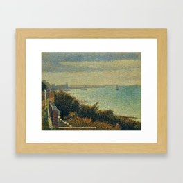 Hudson River, New York by Georges Seurat Framed Art Print