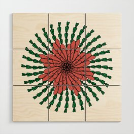 coral flower Wood Wall Art