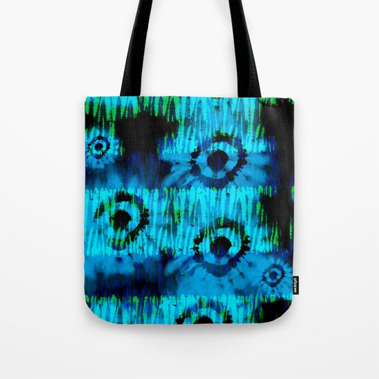 Blue and Green Tie Dye Tote Bag
