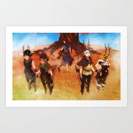 Seers Isle: Beneath the Flame-Tree Art Print