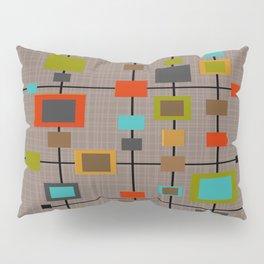 Mid-Century Modern Squares Pattern Pillow Sham