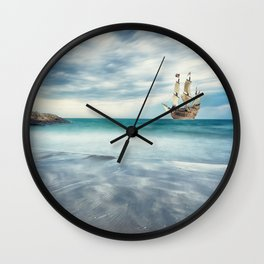 Ship at Sea Wall Clock