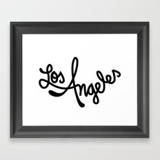 Los Angeles, Hand-Lettered Framed Art Print