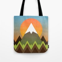 camp Tote Bags featuring Camp by Elisabeth Fredriksson