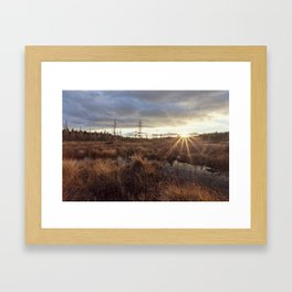 autumn flare Framed Art Print