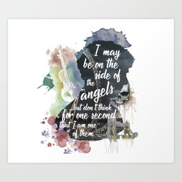 Sherlock Side of the Angels Art Print